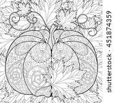 zentangle stylized pumpkin on...   Shutterstock .eps vector #451874359