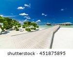 beautiful beach landscape at... | Shutterstock . vector #451875895