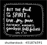 fruits of the happiness quote... | Shutterstock .eps vector #451876591