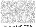 line art vector hand drawn... | Shutterstock .eps vector #451877254