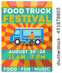 food truck festival flyer or... | Shutterstock .eps vector #451878805