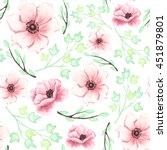 seamless pattern with pink... | Shutterstock .eps vector #451879801