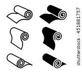 roll of anything black symbol...   Shutterstock .eps vector #451881757