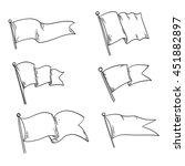vector set of different flag... | Shutterstock .eps vector #451882897