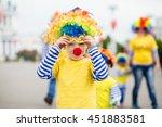 Little Boy In Clown Costume...