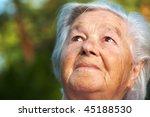 elderly woman being pensive | Shutterstock . vector #45188530
