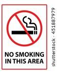 no smoking sign | Shutterstock . vector #451887979