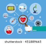 flat design concept for medical ... | Shutterstock .eps vector #451889665