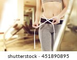 decoration of woman in gym... | Shutterstock . vector #451890895