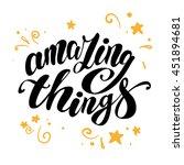 hand written text message... | Shutterstock . vector #451894681