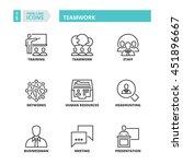 flat symbols about teamwork.... | Shutterstock .eps vector #451896667