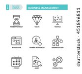 flat symbols about business... | Shutterstock .eps vector #451896811