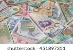 variety of middle east banknotes | Shutterstock . vector #451897351