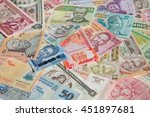 variety of the african banknotes | Shutterstock . vector #451897681