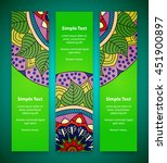 set of vertical banners on a... | Shutterstock .eps vector #451900897