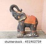 Stone Elephant Statue In...