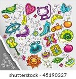 cute design elements vector set ... | Shutterstock .eps vector #45190327