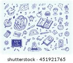 back to school. education items.... | Shutterstock .eps vector #451921765