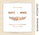 save the date  wedding... | Shutterstock .eps vector #451926757