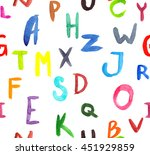 seamless pattern with letters... | Shutterstock . vector #451929859