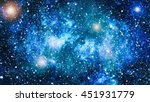 blue nebula background with... | Shutterstock . vector #451931779