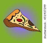 pizza pop art raster...