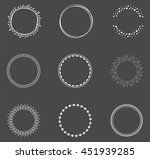 set of decorative round frames | Shutterstock .eps vector #451939285