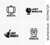 last minute symbols | Shutterstock .eps vector #451946725