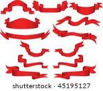 ribbons set | Shutterstock . vector #45195127