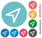 flat direction arrow icon set... | Shutterstock .eps vector #451952311