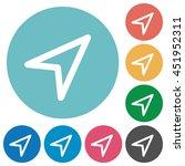 flat direction arrow icon set...   Shutterstock .eps vector #451952311