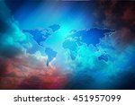 world map background image.... | Shutterstock . vector #451957099