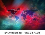 world map image. design world... | Shutterstock . vector #451957105