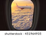 clouds and sky as seen through... | Shutterstock . vector #451964935