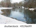 kennet river in winter... | Shutterstock . vector #45196699