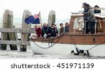 Small photo of Christopher Nolan,Cillian Murphy,Jack Lowden,Mark glynn Carney Filming for the World War II action thriller Dunkirk by Urk Netherlands 12 July 2016