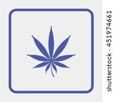 cannabis leaf icon. | Shutterstock . vector #451974661