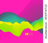 3d abstract background. dynamic ... | Shutterstock .eps vector #451974715