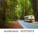 road trip motor home driving... | Shutterstock . vector #451976515