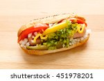 Hot Dog Chicago Style On A...