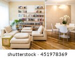 cozy classic furnished living... | Shutterstock . vector #451978369