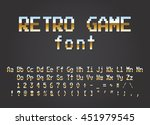 pixel retro font video computer ... | Shutterstock .eps vector #451979545