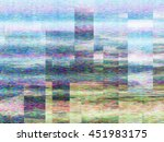 graphic display glitchs backdrop | Shutterstock . vector #451983175