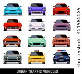 urban traffic car flat icons | Shutterstock . vector #451985539