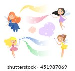 cute cartoon fairies set.