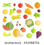 set of fruits   vegetables... | Shutterstock .eps vector #451988701
