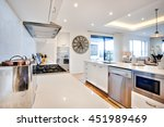luxury kitchen with modern... | Shutterstock . vector #451989469