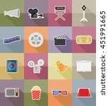 cinema flat icons flat icons... | Shutterstock .eps vector #451991665