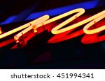 red neon light  closeup on old... | Shutterstock . vector #451994341