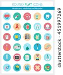 set of modern flat icons of... | Shutterstock . vector #451997269